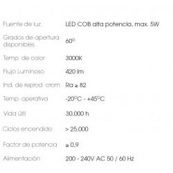 METALARC PACKETT NTL LED 5W BLANCO 3000K IP54