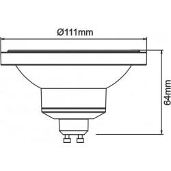 BENEITO FAURE LYNK AR111 LED 13W GU10 45º 3000K PACK 10 UNIDADES