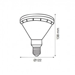 METALARC PAR38 LED 15W/3000K/E27