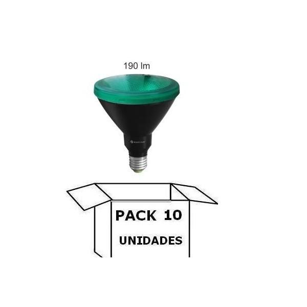 PAR38 LED VERDE 15W E27 30º BENEITO FAURE PACK 10 UNIDADES