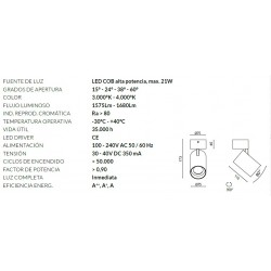 PROYECTOR LED FX TRIFÁSICO 21W 38º