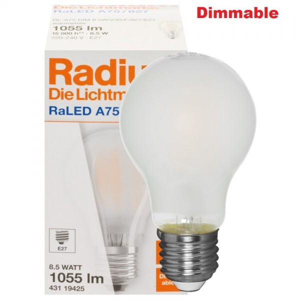 RADIUM STANDARD LED  RALED A75 8,5W /2700K DIMMABLE