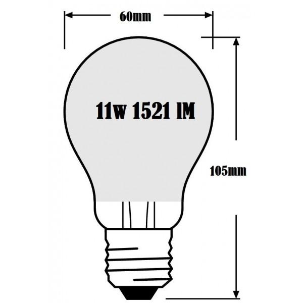 BOMBILLA  RADIUM STANDARD LED 11W 2700K 1521 Lm