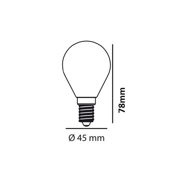BOMBILLA ESFÉRICA LED CRISTAL  E14 4W  4000K 470Lm