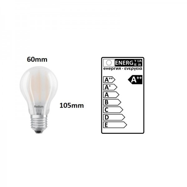 BOMBILLA LED STANDARD RADIUM 7.5W 2700K/E27 1055Lm