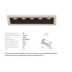 EMPOTRABLE LED COLD 5 5X2W...