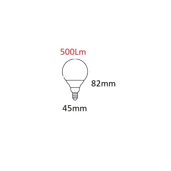 METALARC ESFÉRICA LED CLASICA 5W/E14