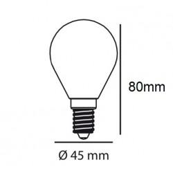 BOMBILLA LED E14 ESFERICA...