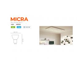 BOMBILLA LED MICRA 4W MR11 12V   38º 320Lm